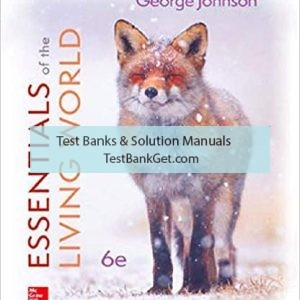 Test Bank ( Complete Download ) For Essentials Of The Living World | 6th Edition | George Johnson | ISBN: 9781260219234