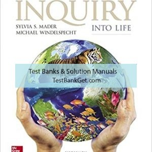 Test Bank ( Complete Download ) for Inquiry Into Life | 15th Edition | Sylvia Mader | Michael Windelspecht | ISBN: 9780073513812