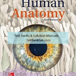 Test Bank ( Complete Download ) for Human Anatomy | 6th Edition | Kenneth Saladin | ISBN: 9781260210262