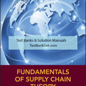 Solution Manual ( Download only ) For Fundamentals of Supply Chain Theory | 2nd Edition | Lawrence V. Snyder | Zuo-Jun Max Shen | ISBN: 9781119024972