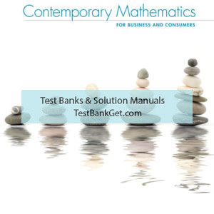 Solution Manual ( Complete Download ) for Contemporary Mathematics for Business & Consumers | 9th Edition | Robert Brechner | George Bergeman | ISBN-10: 0357026489 | ISBN-13: 9780357026489