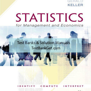 Solution Manual ( Complete Download ) For Statistics for Management and Economics + XLSTAT Bind-in   11th Edition   Gerald Keller   ISBN-10: 0357110676   ISBN-13: 9780357110676
