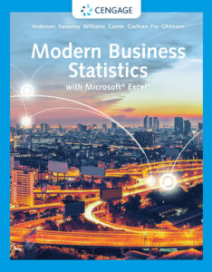 Solution Manual ( Complete Download ) for Modern Business Statistics with Microsoft® Excel®   7th Edition   David R. Anderson   Dennis J. Sweeney   Thomas A. Williams   Jeffrey D. Camm   James J. Cochran   Michael J. Fry   Jeffrey W. Ohlmann