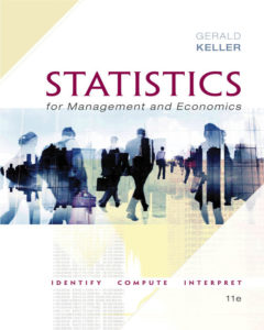 Solution Manual ( Complete Download ) for Statistics for Management and Economics | 11th Edition | Gerald Keller