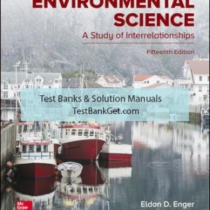 Solution Manual( Complete Download ) For Environmental Science   15th Edition   Eldon Enger   Bradley Smith   ISBN10: 1259916812   ISBN13: 9781259916816