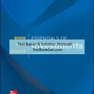 Solution Manual( Complete Download ) For Essentials of Investments | 11th Edition | Zvi Bodie | Alex Kane | Alan Marcus | ISBN 10: 1260013928 | ISBN 13: 9781260013924